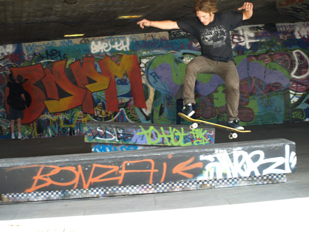 Skateboarder on the Southbank