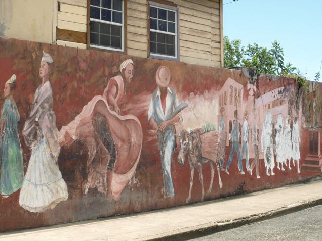 St Lucian street scene