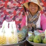 Cambodian fruit seller
