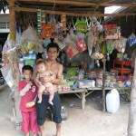 Family, Cambodian countryside